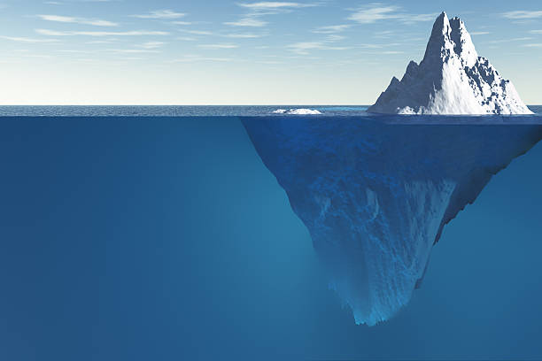 Tip of the iceberg stock photo