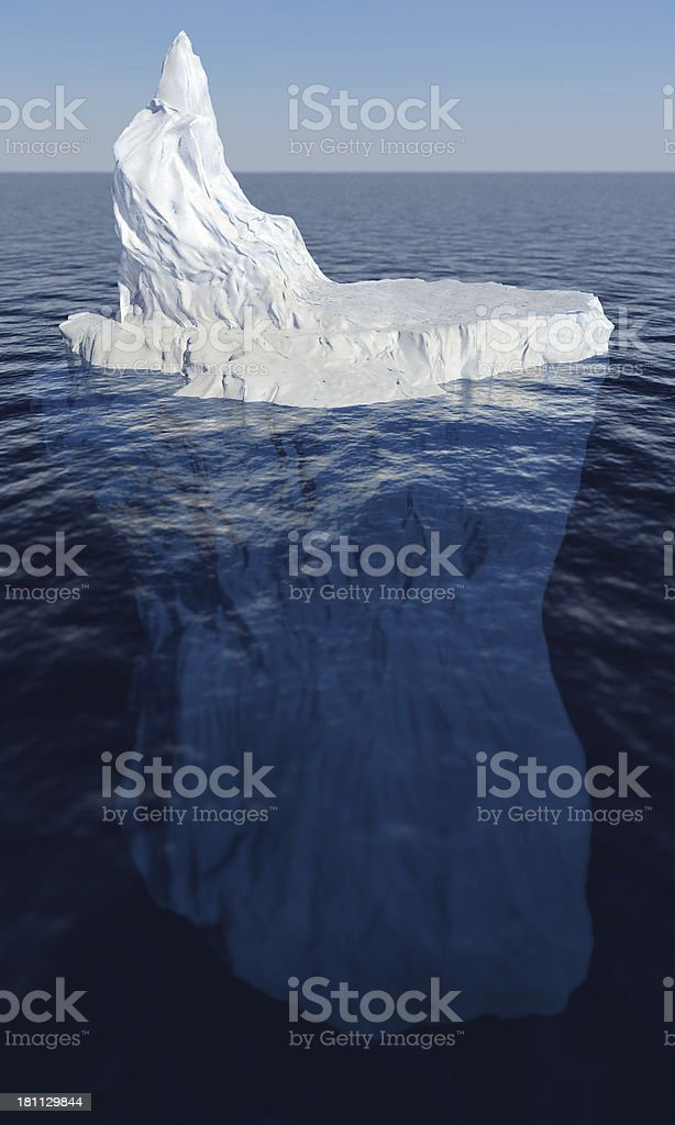 Tip of the Iceberg stock photo