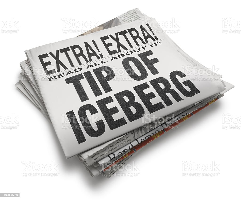 Tip of the Iceberg royalty-free stock photo