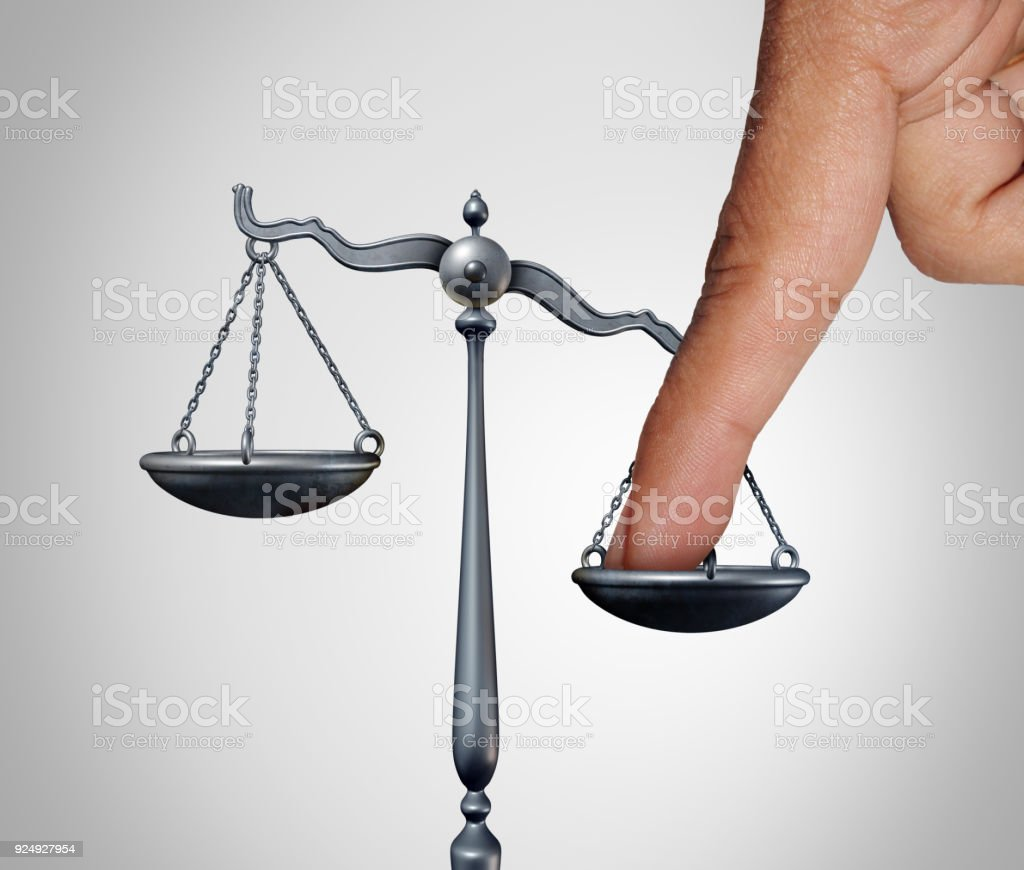 Tip The Scales stock photo