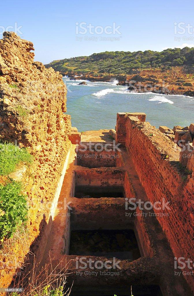 Tipaza, Algeria: Garum factory - Tipasa Roman ruins stock photo