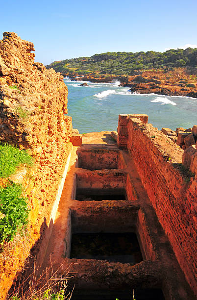 Tipaza, Algeria: Garum factory - Tipasa Roman ruins stock photo