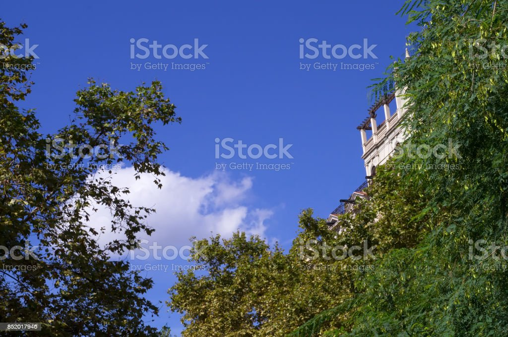 Tipical Barcelona's house and details stock photo