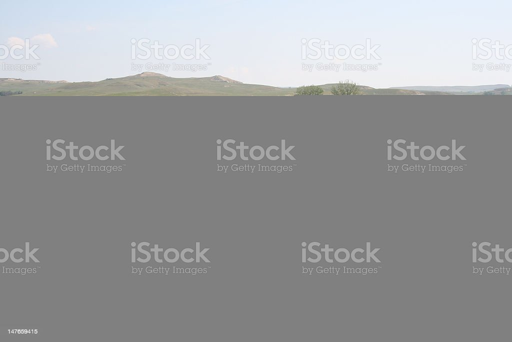 Tipis on the Great Plains stock photo