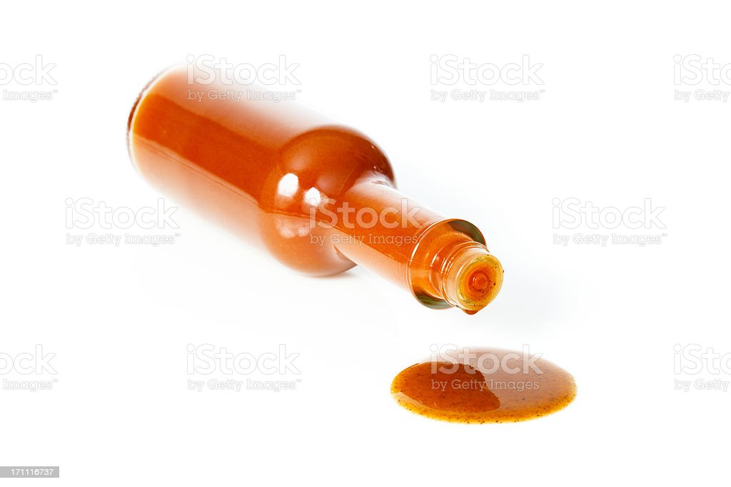 Tipped Hot Sauce stock photo