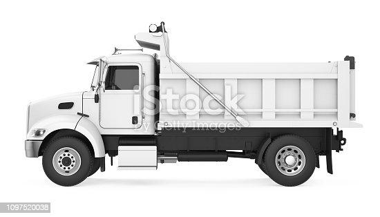 Tipper Dump Truck isolated on white background. 3D render