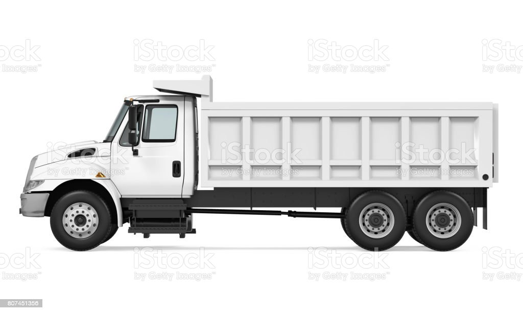 Tipper Dump Truck Isolated stock photo