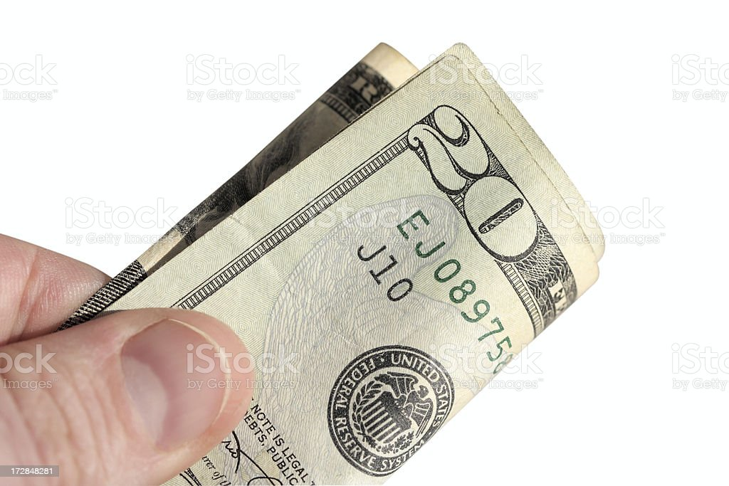 Tipping Twenty stock photo