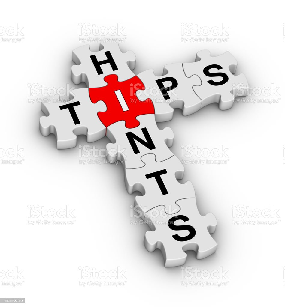 Tips and Hints Jigsaw Puzzle stock photo