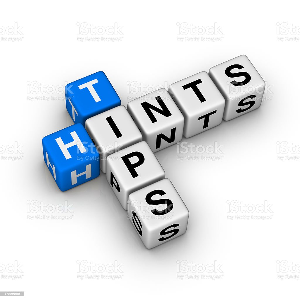 tips and hints stock photo