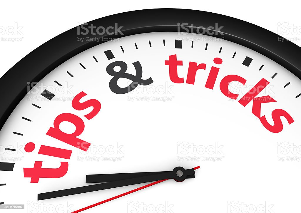 Tips And Tricks Sign Concept stock photo