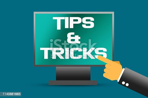 istock Tips and tricks word on computer screen 1140681663