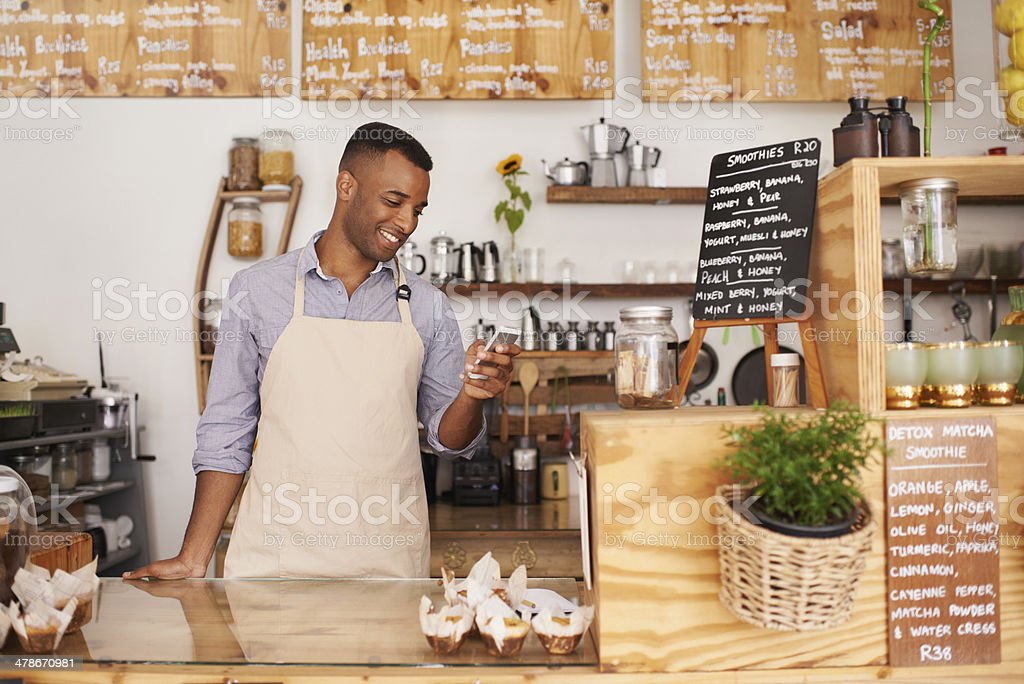 Tips are looking great for today stock photo
