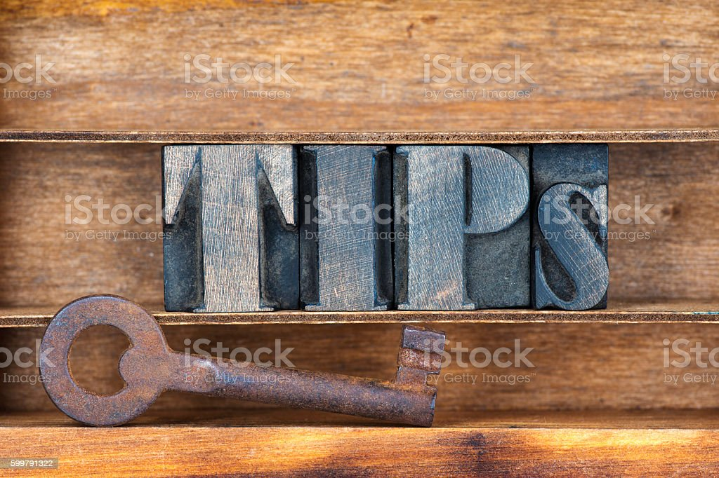 tips key tray stock photo