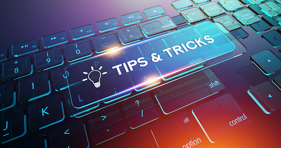 Tips & Tricks Button on Computer Keyboard