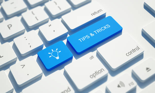 tips & tricks button on computer keyboard - decant stock pictures, royalty-free photos & images