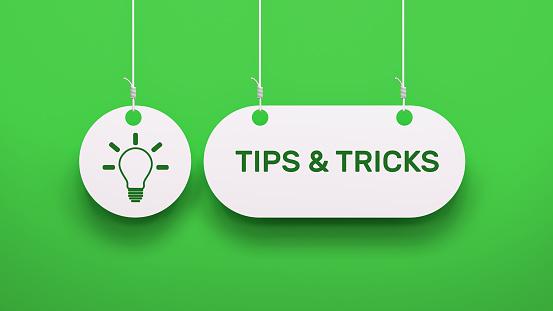 Tips & Tricks - Speech Bubble Concept