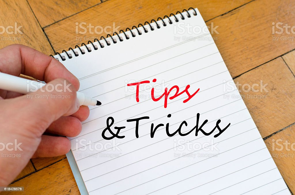 Tips&tricks text concept stock photo