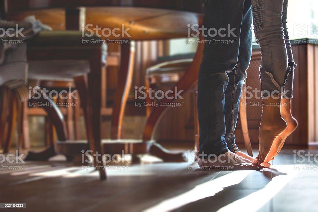 tiptoe love stock photo