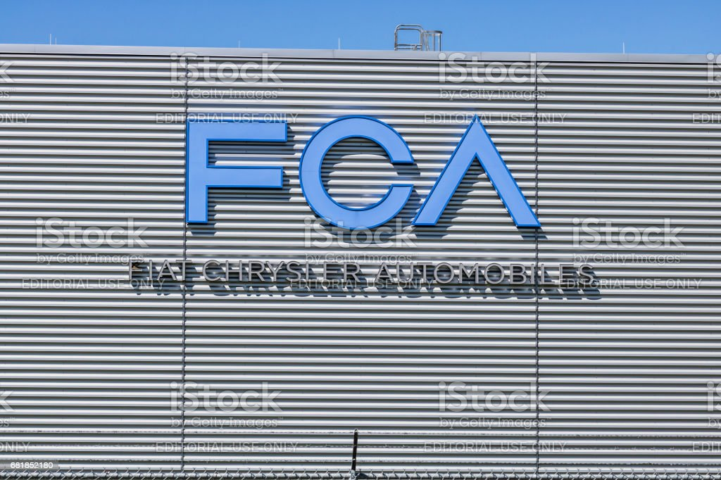 Tipton - Circa April 2017: FCA Fiat Chrysler Automobiles Transmission Plant. FCA sells vehicles under the Chrysler, Dodge, and Jeep brands VII stock photo
