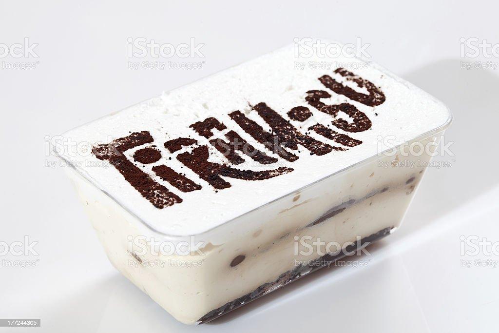 Tiramisu cake royalty-free stock photo