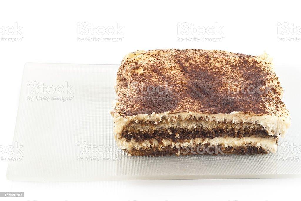 tiramisu desseret isolated on white stock photo