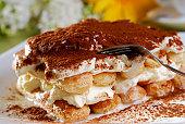 Tiramisu Dessert closeup