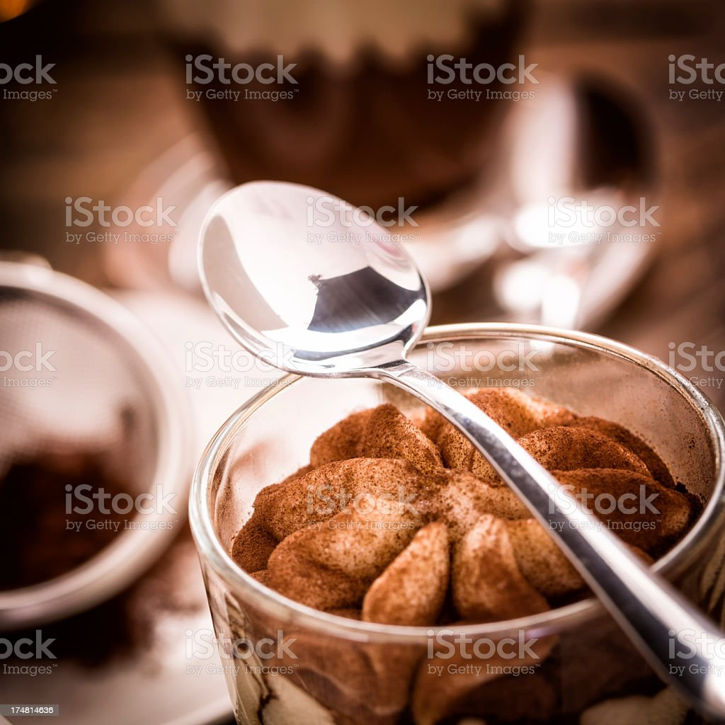 Tiramisu Dessert royalty-free stock photo