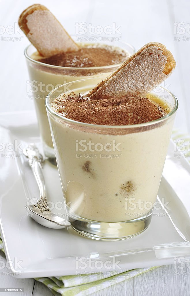 dessert tiramisu royalty-free stock photo