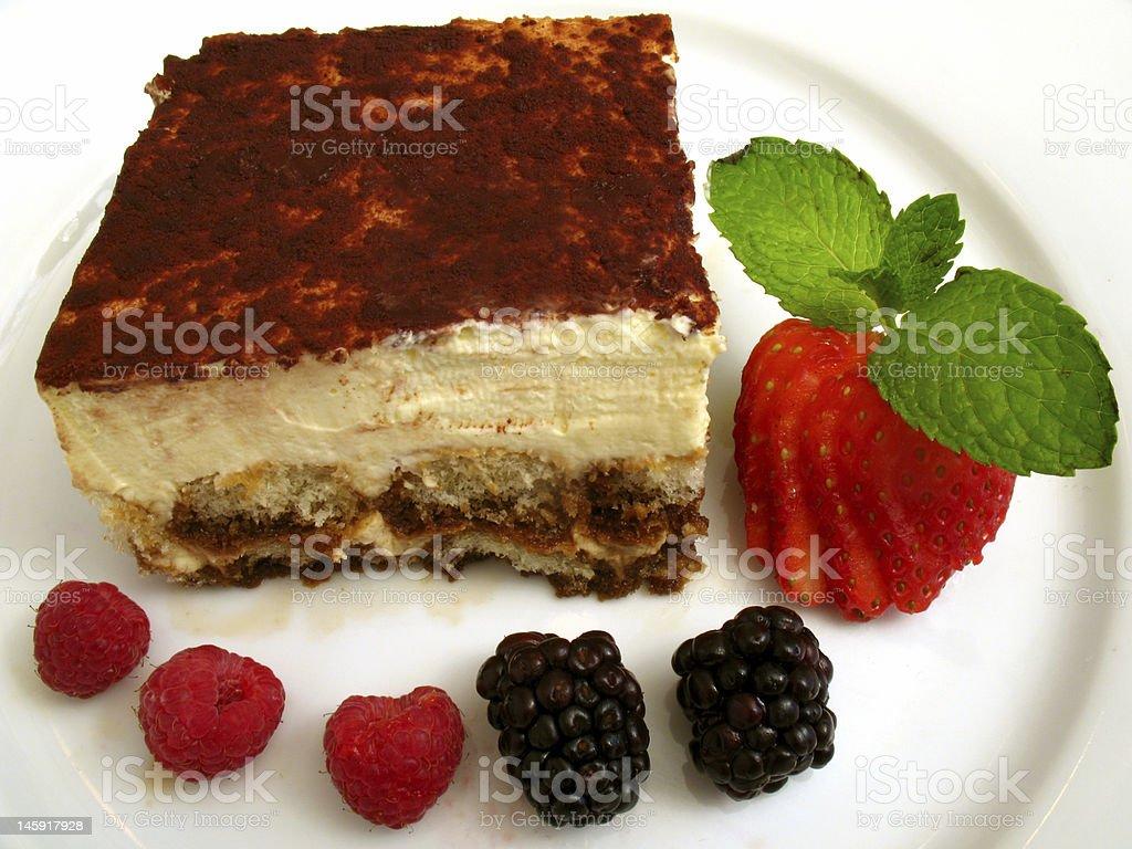 Tiramisu Pastry Dessert royalty-free stock photo