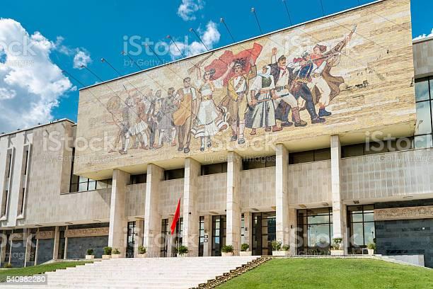 Tirana National History Museum Skanderbeg Square Albania Stock Photo - Download Image Now