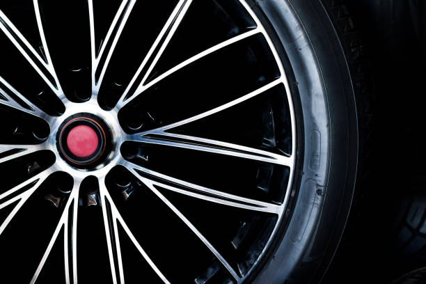 Tire and Alloy stock photo