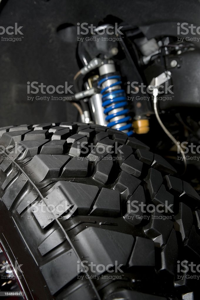 Tire and Shocks royalty-free stock photo