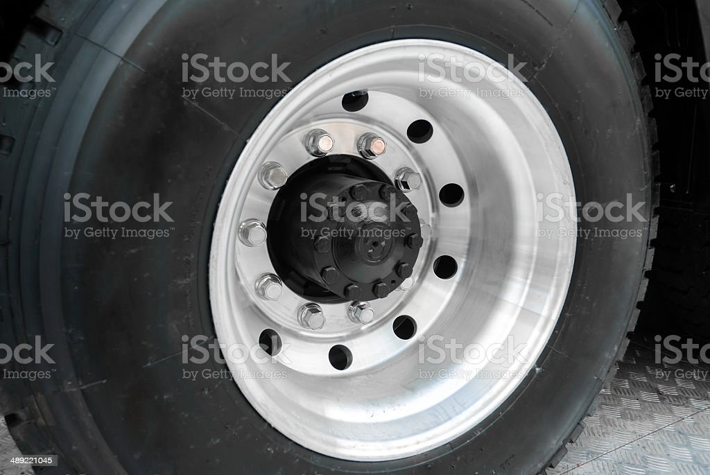 Tire and Wheel stock photo