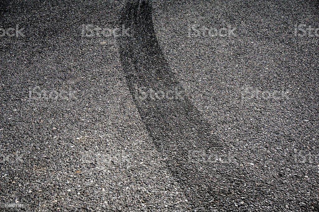 Reifen Pause auf Asphalt – Foto
