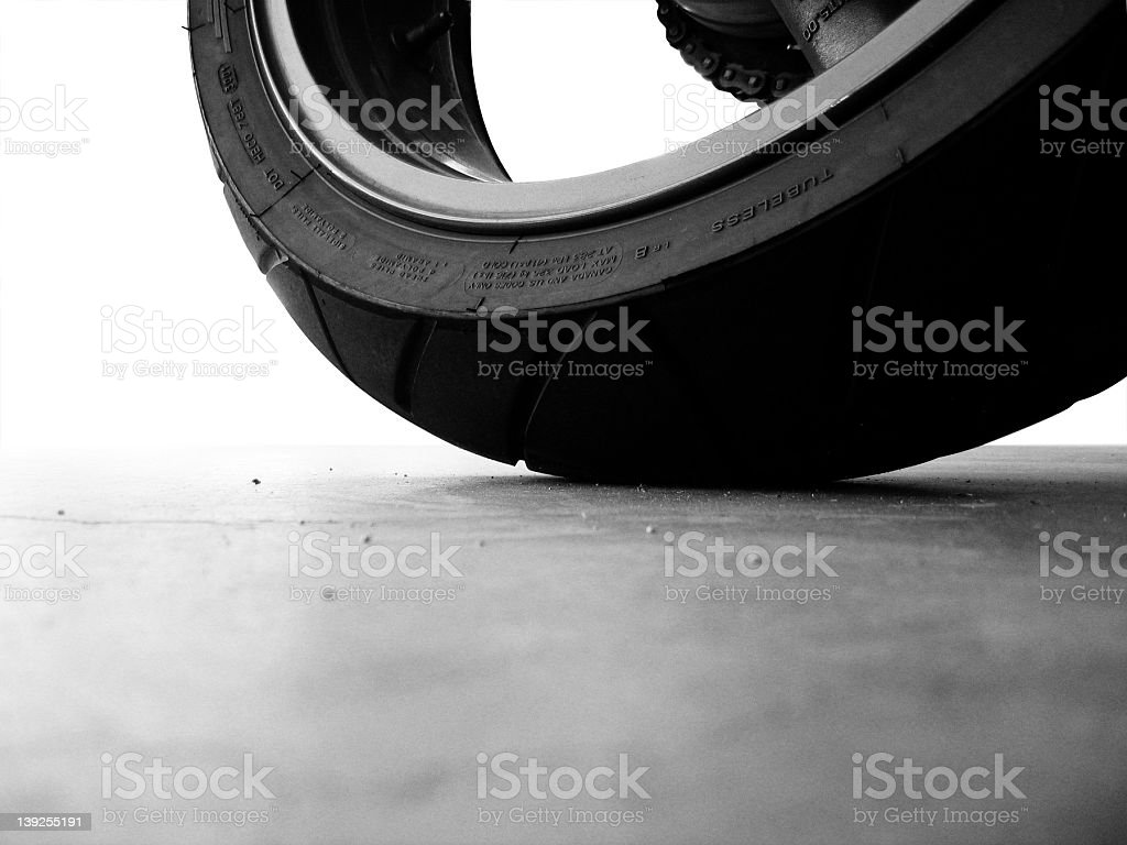 Tire BW Neato stock photo