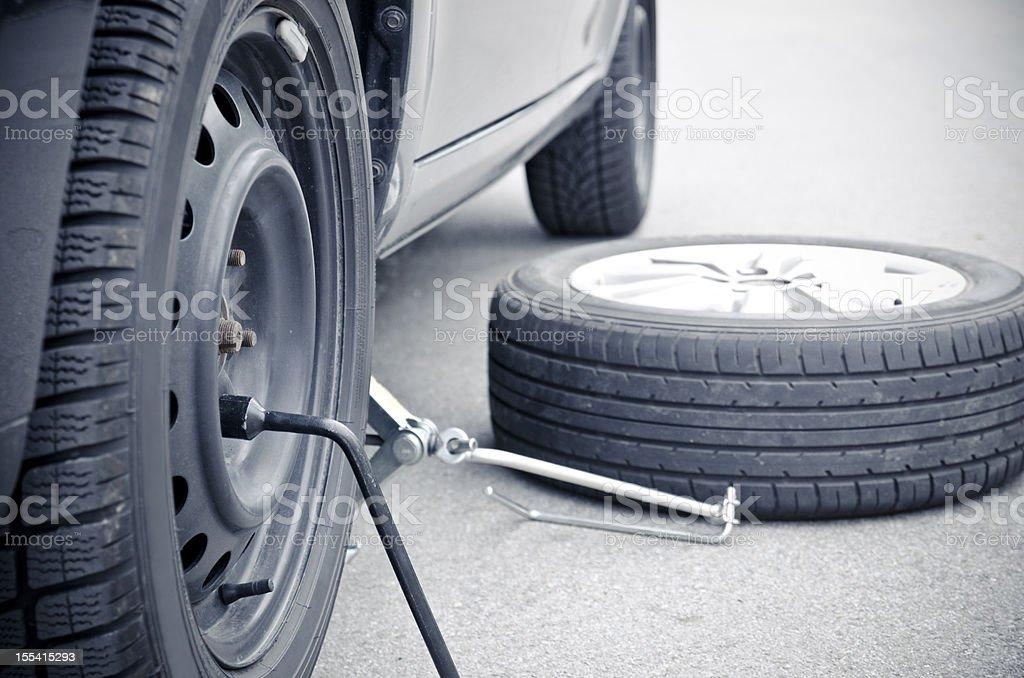 tire change royalty-free stock photo