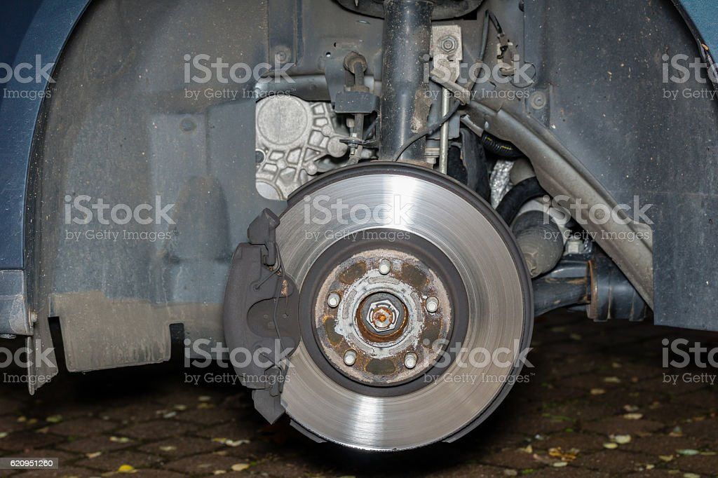 Tire change stock photo