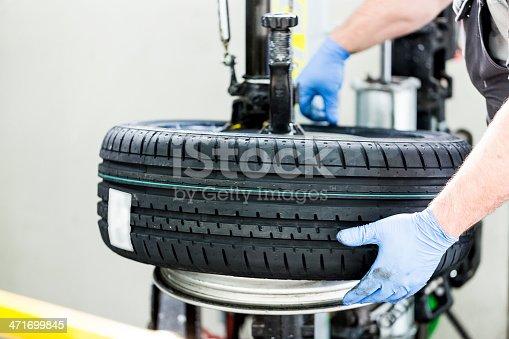 898487280 istock photo Tire changing 471699845
