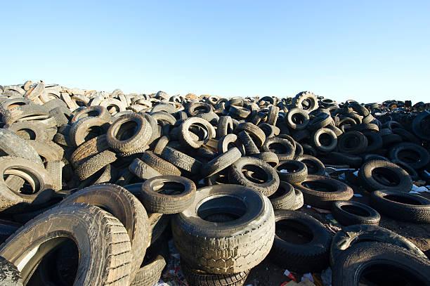 Tire Dump. stock photo