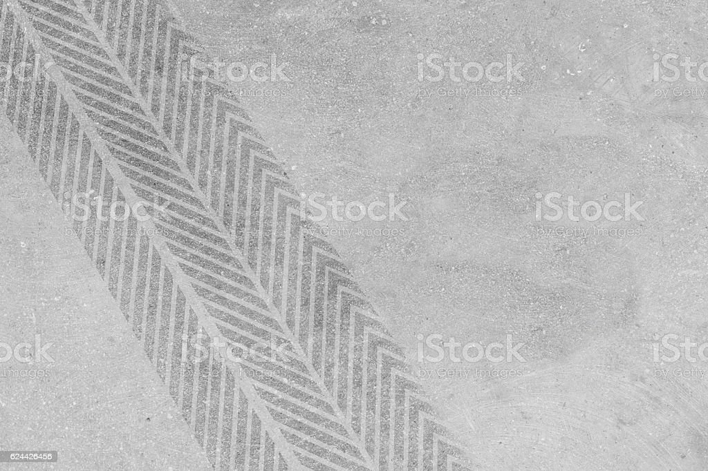 Tire marks on concrete stock photo