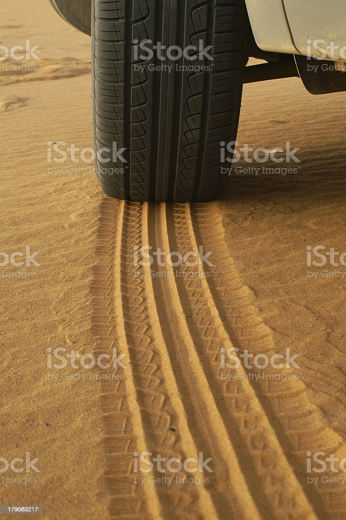 Tire marks royalty-free stock photo