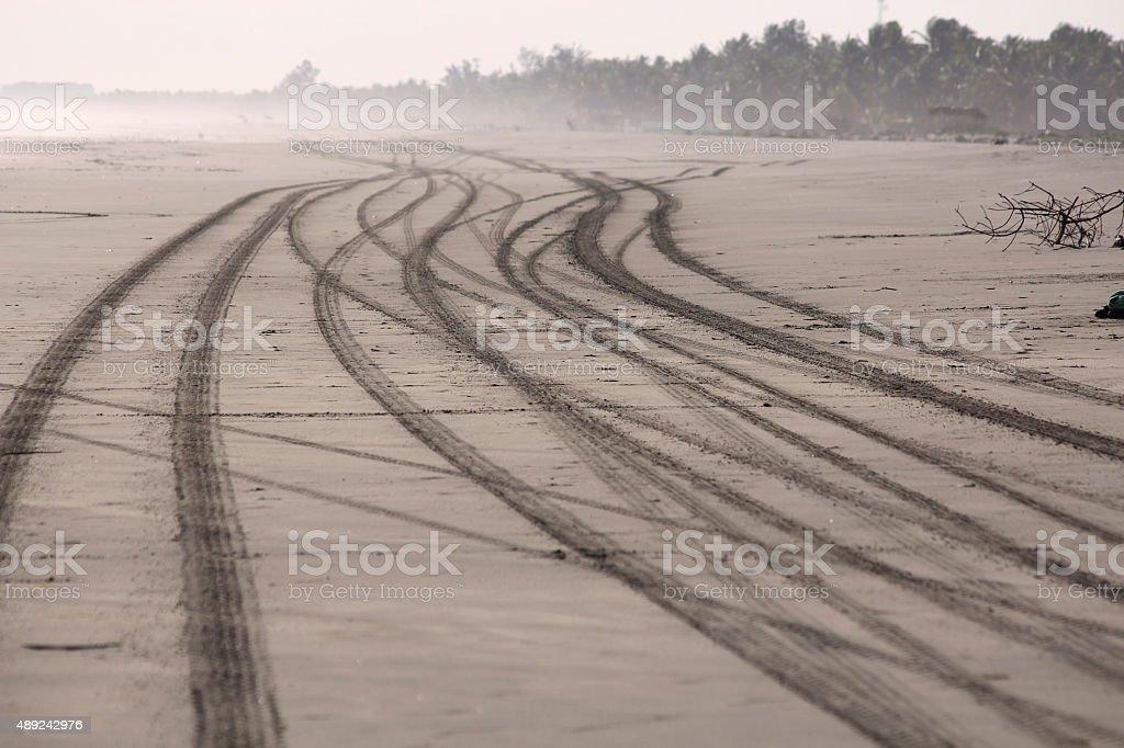 tire marks stock photo