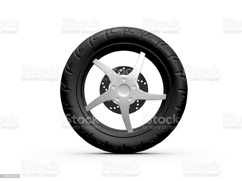 Tire of Motorcycle stock photo