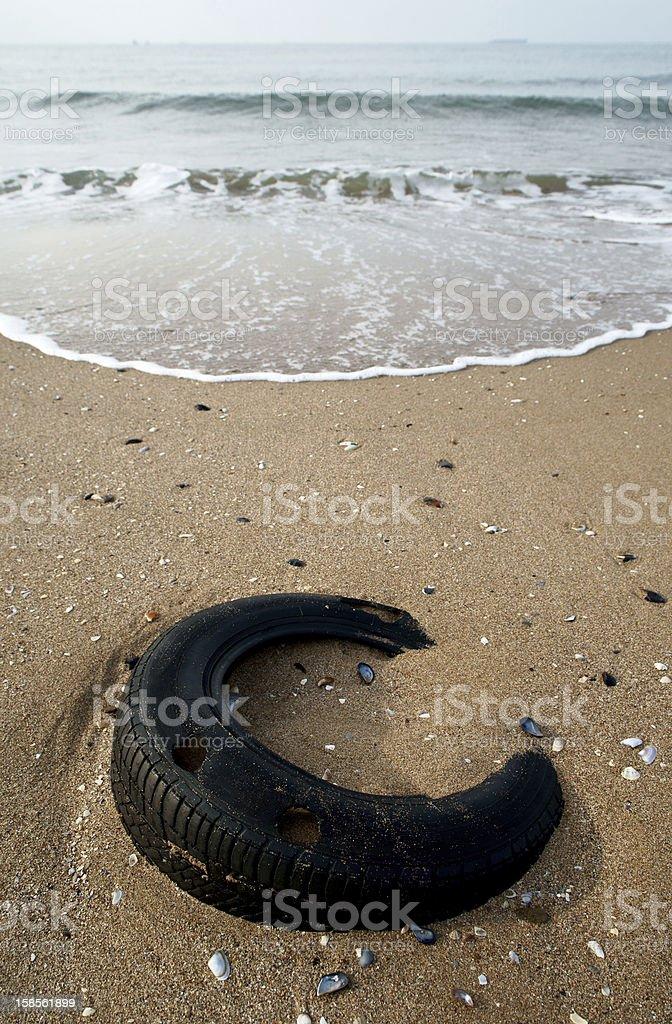 타이어 해변 royalty-free 스톡 사진
