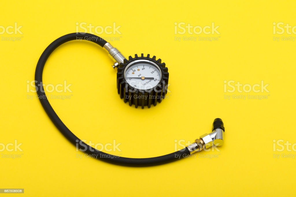 Tire Pressure Gauge stock photo