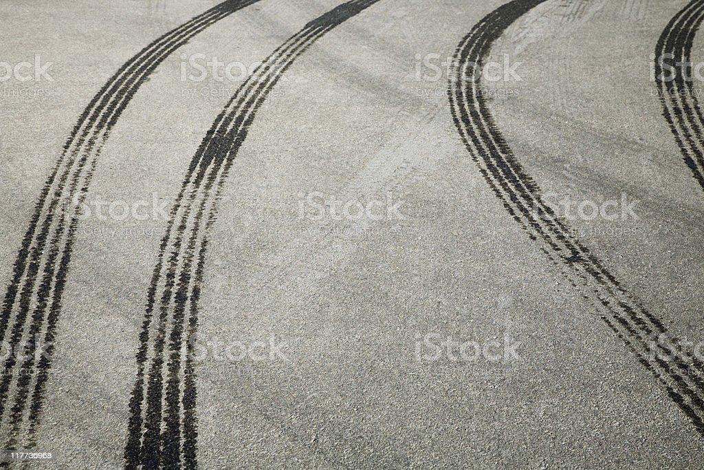 Tire print royalty-free stock photo