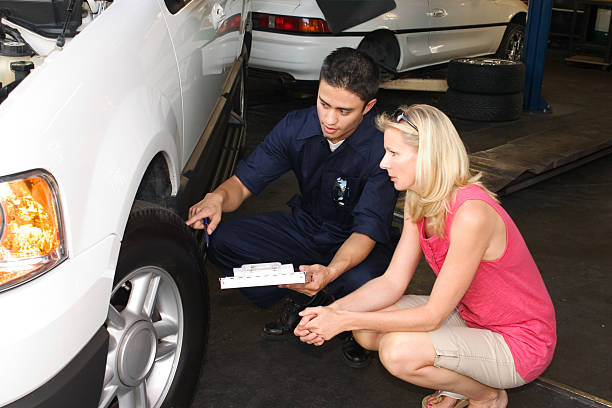 Tire Repair stock photo