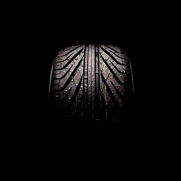 tire series - wheel black background bildbanksfoton och bilder