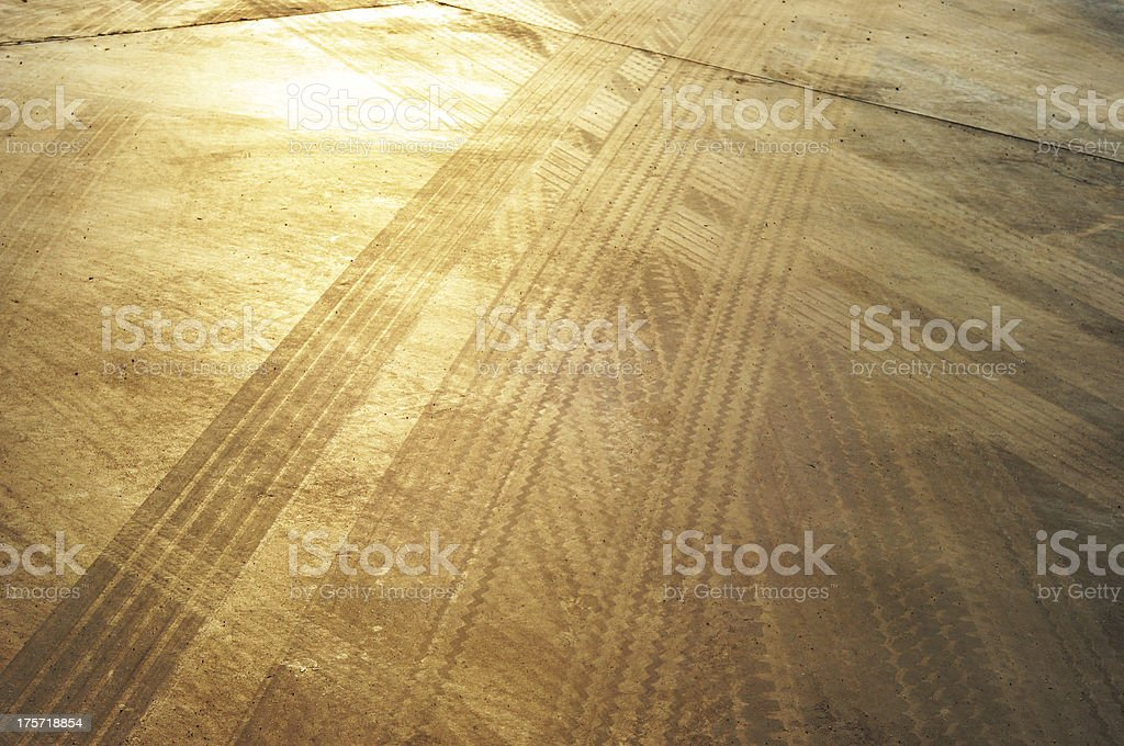 tire track royalty-free stock photo